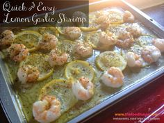 The Food Hussy!: Quick and Easy Dinner Recipe: Lemon Garlic Shrimp