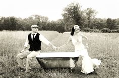 Boston Wedding Photographer | Vintage Clawfoot Tub Wedding Shoot