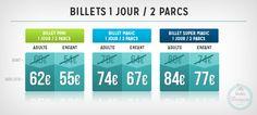 Disneyland Paris tarifs 2015 billet 1J/2P