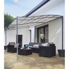 pergola alu motoris pergosol id es am nagement terrasse jardin pinterest pergola alu. Black Bedroom Furniture Sets. Home Design Ideas