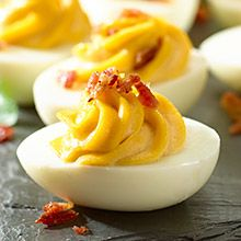 A vibrant twist on classic deviled eggs, these Chipotle Deviled Eggs are packed with flavor! GOYA® Chipotle Chiles in Adobo Sauce, which has a smoky, slightly spicy and tangy flavor, are mixed with egg yolks and mayonnaise to make a filling that is spicy, cool and creamy all at the same time.