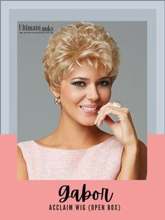 Short, waved layers beautifully blend to a neck-hugging, tapered nape. #hairstyles #hairdo #hairoftheday #styleinspo Short Grey Hair, Short Blonde, Short Hair Styles, Wig Styles, Gray Hair, Blonde Hair, Synthetic Lace Front Wigs, Synthetic Wigs, Trending Hairstyles