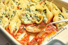 Conchiglioni mit Gemüsefüllung #Nudeln #Tomatensauce #Vegetarisch #Backofen