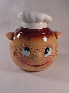 "PY Ucagco ""Oh My a Fly"" Chef Cookie Jar"