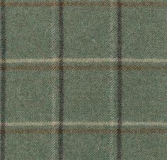 Woodford Check Wool check fabric in teal