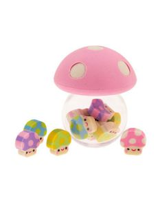 Mushroom Kingdom Erasers. Too cute <3