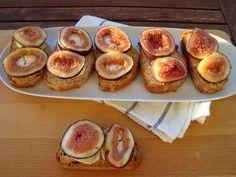 Bocadinhos de Açúcar: Crostini de queijo de cabra com figo