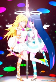 panty and stocking anime Panty And Stocking Cosplay, Best Anime List, Chibi, Arte Horror, Manga Pictures, Magical Girl, Yandere, Cute Art, Cosplay Costumes