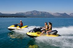 jet skiing in Lake Tahoe! Such a fun couples trip!