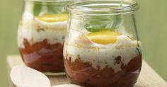 Pikante ►Eier im Glas mit Paprika, Chili und Basilikum: Die Sulfide in Zwiebeln und Knoblauch tun der Verdauung gut. Als Abendessen oder zum Brunch.