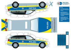 Paper Model Car, Paper Car, Paper Models, Paper Toys, School Bus Crafts, Car Photos Hd, Us Police Car, Imprimibles Toy Story Gratis, Paper Doll House