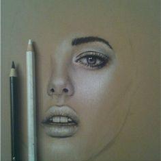 Pastel pencil portrait drawing by Toni Mahfud