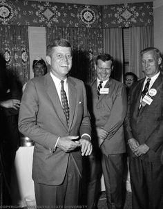 John F. Kennedy in Detroit.