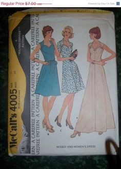 UnCut 1970's McCall's Sewing Pattern 4005 Size 12 by EarthToMarrs