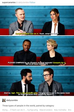 iZombie: I am a mix of David/Aly & Rahul/Robert (leaning more so on the RR).Yep. - @hmj93