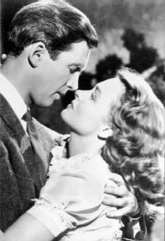 "Jimmy Steward and Donna Reed in the classic ""It's a Wonderful Life!"""