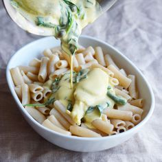 Creamy Spinach and Artichoke Pasta, Vegan & Gluten-Free - The Colorful Kitchen