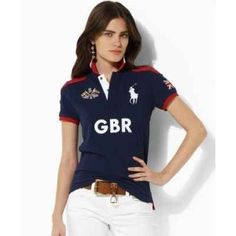 fitted ralph lauren polo shirts for women Custom Polo Shirts, Printed Polo Shirts, Polo T Shirts, Camisa Polo, Ralph Lauren Style, Polo Ralph Lauren, Polo Shirt Outfit Women's, Ralph Lauren Womens Clothing, Teen Fashion