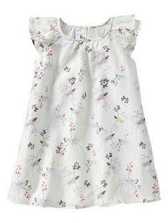 Floral flutter-sleeve dress | Gap