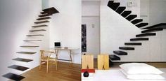 Floating Stairs Design  #stairs Pinned by www.modlar.com