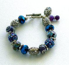 Pave Beads Handmade Beaded Bracelet by bdzzledbeadedjewelry, $35.00