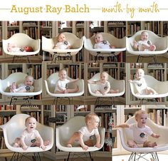 adorable monthly baby photo series
