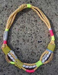 deezdoggs Etsy store,  crazy bungee cord necklace.  Approx. $84.00