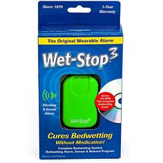 Wet-Stop3 Green Bedwetting Enuresis Alarm with Sound and Vibration, Comes in 3 Color Options, Curing Bedwetting For Over 35 Years