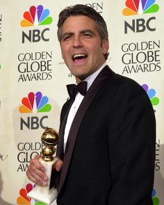 "George Clooney - winner of the Golden Globe for Best Performance by an Actor in a Motion Picture (Musical or Comedy) for ""O Brother, Where Art Thou?"", 2001."