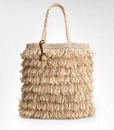 Raffia tote from Tory Burch. by cristina Summer Handbags, Summer Bags, Tote Handbags, Purses And Handbags, Spring Summer, Summer Diy, Tory Burch, Crochet Handbags, Crochet Bags