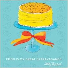 Andy Warhol on Food. I want this print in my kitchen