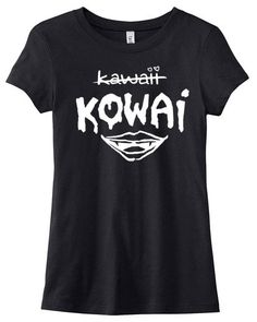 KOWAI not Kawaii Tshirt  japanese creepy cute by gesshokudesigns, $19.50 I need!!!!
