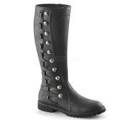 Men's Black Renaissance Medieval Pirate Boots - Shoecup.com