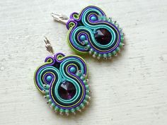 Hey, I found this really awesome Etsy listing at https://www.etsy.com/listing/218204050/soutache-earrings-colorful-swarovski