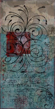 """Poetic Possibilities, by Anne Moore, monotype, 20""""x10"""""""