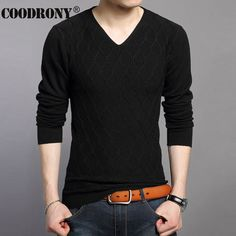 Soft Warm Cashmere Sweater Men Brand-Clothing Slim Fit V-Neck Pullover Men Wool Sweaters Fashion Argyle Knitted Pull Homme 66186