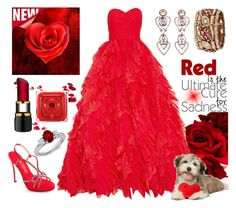 """Bright Red"" by girlieques ❤ liked on Polyvore featuring Sabine G., Retrò, Rock 'N Rose, Oscar de la Renta, E! Live From The Red Carpet, Kosta Boda, Blue Nile and brightred"