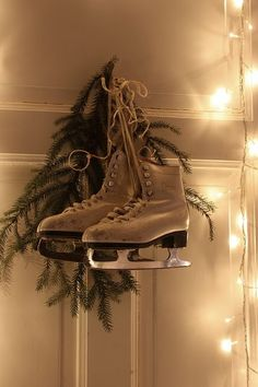 This is what I like to do with my ice skates from 8th grade at Christmas. Ah, the memories!