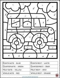 Back to school music activities: Music Coloring Pages: 15 SCHOOL Themed Music Coloring Sheets. Coloring Sheets, Coloring Pages, Colouring, Music Lessons For Kids, Kids Music, Violin Lessons, Music Worksheets, Teaching Music, Learning Piano