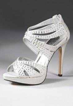 Prom Shoes / Shoes  High Heel Zipper Back Satin Sandal from Camille La Vie and Group USA prom ||