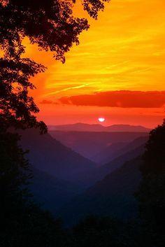 Babcock State Park, West Virginia / Beautiful Sunrise / Sunset