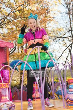 JoJo Siwa attends the Annual Macy's Thanksgiving Day Parade on November 2017 in New York City.