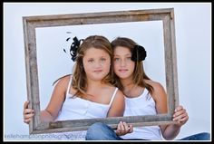 Two girls in a frame I want professional pics of my girls...since we really have never done that..this would be cute!