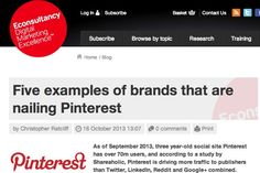 Five examples of brands that are nailing Pinterest