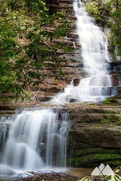 Angel Falls - waterfall hiking at Lake Rabun Beach Campground in North Georgia
