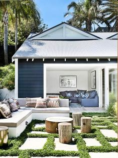 Take a look at all of the outdoor rooms nominated for this year's Australian House & Garden Top 50 Rooms competition. Pergola, Patio Awnings, Outdoor Living Rooms, Living Spaces, Outdoor Bedroom, Australian Homes, Australian Garden, Outdoor Areas, Outdoor Lounge