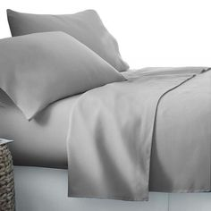 Maddy Grey 4 - piece Sheet Set - Online Only - Matt Blatt Flat Sheets, Bed Sheets Online, Buy Bed, Bed Sheet Sets, Quilt Cover, Mattress, Pillow Cases, Pillows