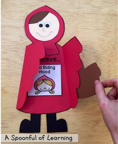 A Spoonful of Learning: Little Red Riding Hood. Really cute - and comprehensive - lesson plan for teaching fairy tales. Nursery Rhyme Theme, Kids Nursery Rhymes, Red Riding Hood Story, Fairy Tale Crafts, Art For Kids, Crafts For Kids, Fairy Tales Unit, Traditional Tales, Classic Fairy Tales