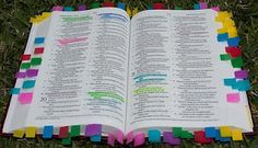 """""""Child Training Bible"""" - blog on marking Bible to be able to point out specific verses for children to read."""