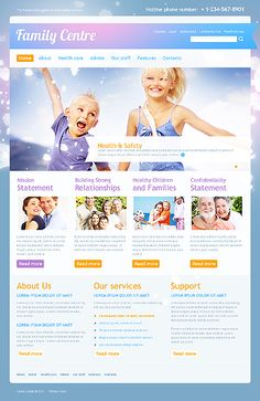 Family Center WordPress Themes by Mercury All In The Family, Family First, Health And Safety, Healthy Kids, Website Template, Wordpress Theme, Mercury, Templates, Healthy Children